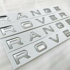 NEW RANGE ROVER CHROME BONNET & BOOT LETTERING BADGE SPORT VOGUE EVOQUE