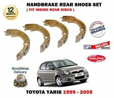 FOR TOYOTA YARIS 1.3i 1.5i T SPORT 1999-4/2006 NEW REAR HAND BRAKE SHOES SET