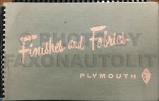 1956 Plymouth Color Upholstery Dealer Showroom Album Belvedere Fury Plaza Savoy