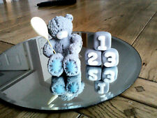 Comestible Tatty Teddy Bear Cake Topper con textura Baby Shower/Bautizo Cumpleaños