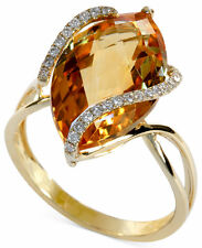 NEW PRICE! Gemma by EFFY Marquise-Cut Citrine and Diamond Wrap Ring in 14k Gold