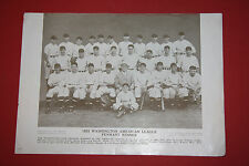 Rare 1910-57 Baseball Magazine Poster Premium M114 1933 Washington Senators Team
