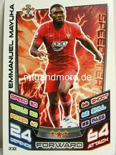 Match Attax 2012/13 Premier League - #232 Emmanuel Mayuka - Southampton