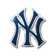 New York Yankees Aluminum Metal Auto Emblem [NEW] NY MLB Car Decal Sticker CDG