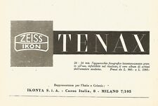 Y2473 Zeiss Ikon - TENAX - Pubblicità del 1942 - Old advertising