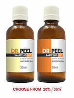 DR PEEL SALICYLIC ACID 20% & 30% PEEL / ACNE SCARS, BLACKHEADS, REDNESS 50ML