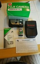 FUJIFILM focus free ENDEAVOR CAMERA with box, directions, case and roll of film