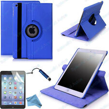 For Apple iPad Mini 360 Degree Rotating PU Leather Case Cover w Swivel Stand