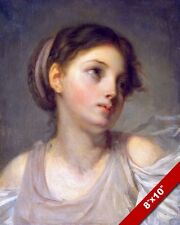 BEAUTIFUL YOUNG GIRL 18TH CENTURY PORTRAIT PAINTING HISTORY ART CANVAS PRINT
