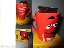 "M & M's céramique tasse Mug red/rouge = ""Everything is under control"" Nouveau"