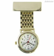 Censi Unisex Gold Plated Nurse/Tunic Fob Watch Brooch Extra Battery Fast Ship
