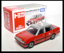 TOMICA TOYOTA CROWN COMFORT HONG KONG CITY TAXI RED 1/63 TOMY DIECAST CAR