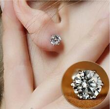 Rhinestone Crystal Silver Stud Earrings Piercing Ear Studs Women Wedding Party