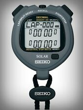 Seiko S063 Solar Digital Decimal Stopwatch 300 Memory 2 Built-In Interval Timers