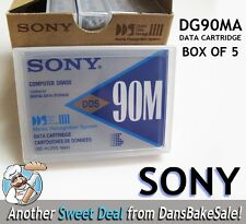 Sony DG90MA DDS 90M Computer Grade Data Cartridge Box of 5 - New Sealed