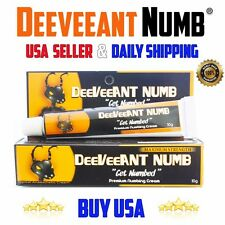 #1 Deeveeant Lidocaine Tattoo Numbing Cream Wax Laser STRONG 10g USA Ship Daily