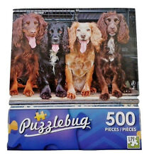500 Pcs Puzzlebug Puzzles Cocker Spaniels Sitting In The Back Of A Pickup Truck.