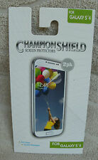 Champion Shield Screen Protector For Galaxy S4 (2 pk.) ~ NEW