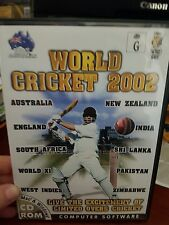 World Cricket 2002 - PC GAME - FREE POST