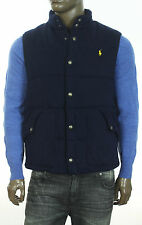 NEW POLO RALPH LAUREN SNAP BUTTON PLAID LINED QUILTED JACKET VEST L