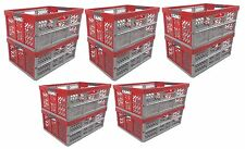 10 x Pro - Foldable box TUV certified 45 L bis 50 kg silver / red Folding Crate