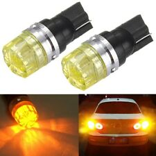 2x T10 Car Wedge Amber Yellow 5050 SMD LED Turn Tail Side Light Bulb Lamp DC 12V