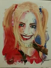 Harley Quinn Signed Art Print Margot Robbie Batman Suicide Squad 1of1999 Bam Box