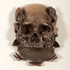 Bottle Opener - Beer Buddies - Wall Mounted - Memento Mori Skull - Bronze