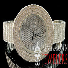 Iced Out Mens Techno JoJino/JoJo /Joe Rodeo 3 Row Bezel 10 Row Custom Band Watch