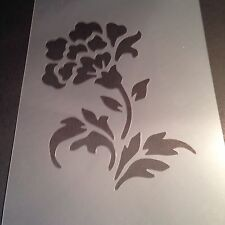 Flower Stencil Template Flags Banner Paint Craft Fabric  Airbrush Bedroom