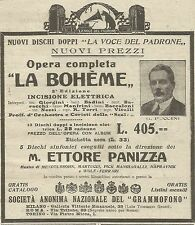 W5762 Dischi La Voce del Padrone - G. Puccini - Pubblicità 1928 - Advertising
