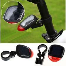 Solar Power LED Rear Flashing Tail Light for Bicycle Bike Cycling Lamp Safety MT