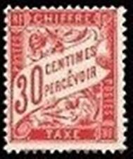 """FRANCE STAMP TIMBRE TAXE N° 33 """" TYPE DUVAL 30c ROUGE CARMINE """" NEUF x TB"""