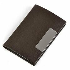 Brown Business Name Card Holder Case Organizer N3