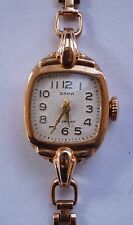 14k Solid Rose Gold Antique Russian Made Ladies Wrist Watch