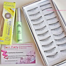 10 Pairs Handmde Black Curly Soft Natural False Eyelashes Eye Lashes With Glue