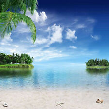 Soft Beach 10'x10' CP Backdrop Computer printed Scenic Background S-166