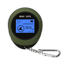 Mini GPS Receiver Navigation Handheld Location  USB Rechargeable Compass Outdoor