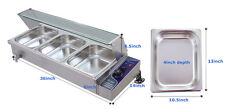 3-Well Bain-Marie Food Warmer Steam Table Restaurant Counter Top Warmer Steamer