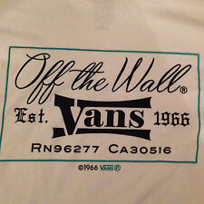 VANS Original White Double Sided off the wall Est. 1966 Graphic L Tee Shirt BNWT