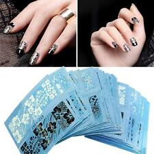 48 Sheet Decal Water Transfer Manicure 3D Lace Nail Art Stickers Tips Decoration