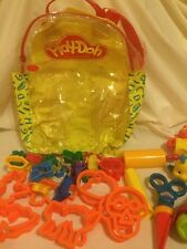 Play Doh Mixed Lot 38 pcs Cookie Cutters Tools Shapes Flounder Plastic Backpack