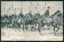 Militari Cavalleria Lancieri Alterocca 5821 PIEGA cartolina QT7897