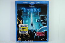 TRON LEGACY BLU RAY 2DISC BNEW SEALED W/SLIPCASE