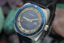 Vintage JULES JURGENSEN Automatic S.S. 600Ft Screw Down Crown Diver Watch