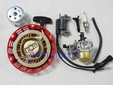 Ignition Coil+ Spark Plug+Carburetor Carb+Recoil Starter Start For Honda GX120