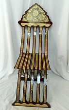 Egyptian Hand Inlaid Mother of Pearl Folding Wood Chair Piece of Art