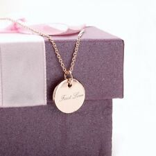 18K Rose Gold Plated Word First Love Round Shaped Exquisite Necklace Jewellery