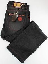 NWT 1100$ BILLIONAIRE COUTURE JEANS leather grey wax extraluxury Italy us 34
