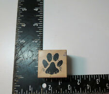 PSX B-930 Paw Print Mounted Rubber Stamp